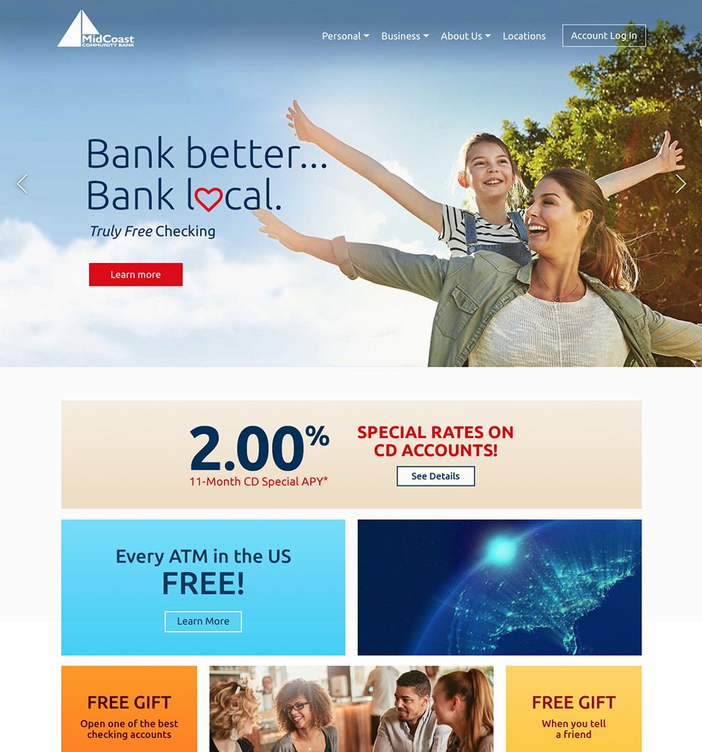 NEW MidCoast Bank Website